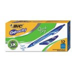 bic-gel-ocity-quick-dry-retractable-gel-blue-ink-medium-1-dozen-bicrglcg11be