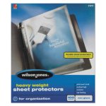 wilson-jones-heavyweight-sheet-protector-clear-100-protectors-wlj21413