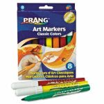 Dixon Prang Classic Art Markers, Conical Tip, Eight Colors, 8/Set (DIX80128)