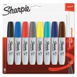 Sharpie Permanent Marker, 5.3mm Chisel Tip, Assorted, 8 Markers (SAN1927322)