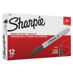 Sharpie Fine Point Permanent Marker, Black, 12 Markers (SAN30001)