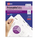 "Avery Printable Repositionable Plastic Tabs, 1 3/4"", 80/Pack (AVE16282)"