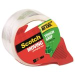 "Scotch Tough Grip Moving Packaging Tape, 1.88""x54.6 yds, w/Dispenser (MMM3500RD)"