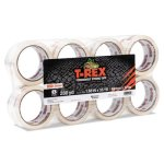 "T-rex Packaging Tape, 1.88"" x 35 yds, Crystal Clear, 8/Pack (DUC285723)"