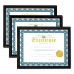 Universal All Purpose Document Frame, 8-1/2 x 11 Insert, 3 Frames (UNV76848)