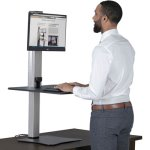 Victor DC400 High Rise Electric Standing Desk Workstation (VCTDC400)