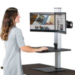 Victor DC450 High Rise Electric Dual Monitor Standing Workstation (VCTDC450)