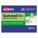 Avery Gummed Cloth Index Tabs, 1/2 in, Gray, 25/Pack (AVE59112)