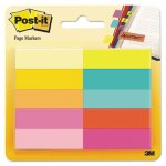 Post-it Page Markers, Five Assorted Bright Colors, 500 Sheets (MMM67010AB)
