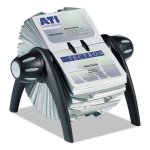 Business Card File Holds 400 4 1/8 x 2 7/8 Cards, Black/Silver (DBL241701)