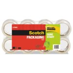 "Scotch Packaging Tape, 1.88"" x 54.6 yards, 3"" Core, Clear, 8/Pack (MMM34508)"