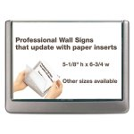 Durable Click Sign Holder For Interior Walls, Graphite (DBL497737)