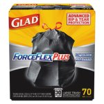 Glad 30 Gallon ForceFlex Drawstring Trash Bags, 70 Bags (CLO70358)