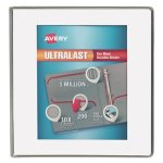 "Avery UltaLast View 1"" Binder with One Touch Slant Ring, White/Clear (AVE79744)"