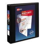 "Avery Nonstick Heavy-Duty EZ-Turn Ring Binder, 1-1/2"" Capacity, Black (AVE05400)"