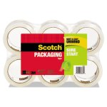 "Scotch 3500 Packaging Tape, 1.88"" x 54.6 yards, 3"" Core, Clear, 6/Box (MMM35006)"
