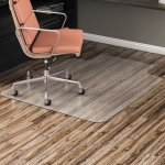 "Alera Non-Studded Chair Mat for Hard Floor, 45"" x 53"", with Lip (ALEMAT4553HFL)"