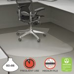 "Deflecto SuperMat Frequent Use Chair Mat, 60"" x 66"", Medium Pile, Clear (DEFCM14002K)"