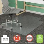 "Deflecto SuperMat Frequent Use Chair Mat, Lip, 36"" x 48"", Clear (DEFCM14113COM)"