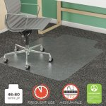 "Deflecto SuperMat Frequent Use Chair Mat, 46"" x 60"", Med Pile, Lip (DEFCM14432F)"