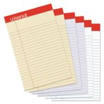 "Universal Colored Perforated Ruled Writing Pads, 5"" x 8"", 6 Pads (UNV35895)"