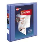 "Avery Heavy Duty Nonstick View Binder w/EZD Rings, 1 1/2"", Periwinkle (AVE17553)"