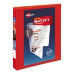 "Avery 1 1/2"" Heavy-Duty View Binder with One Touch EZD Rings, Red (AVE79171)"