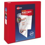 "Avery Heavy-Duty View 4"" Binder with One Touch EZD Rings, Red (AVE79326)"