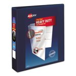 "Avery Heavy-Duty Reference View Binder, 1-1/2"" Capacity, Blue (AVE79805)"