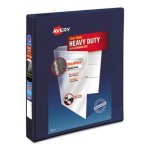 "Avery Non-Stick Heavy-Duty 1"" EZD Reference View Binder, Navy Blue (AVE79809)"