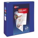 "Avery Heavy-Duty View Binder With EZD Rings, 4"" Cap, Pacific Blue (AVE79814)"