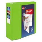 "Avery Heavy-Duty View Binder w/Locking EZD Rings, 5"" Cap, Chartreuse (AVE79815)"