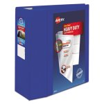 "Avery Heavy-Duty View Binder With EZD Rings, 5"" Cap, Pacific Blue (AVE79817)"