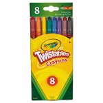 Crayola Twistable Crayons, 8 Traditional Colors/Set (CYO527408)