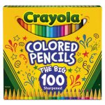 Crayola Long Barrel Colored Pencils, 100 Assorted Colors/Set (CYO688100)