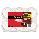 "Scotch Grade Packaging Tape, 1.88"" x 54.6yds, Clear, 6 Rolls per Pack (MMM37506)"