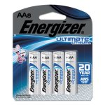 Energizer Ultimate Lithium Batteries, AA, 8/Pack (EVEL91SBP8)