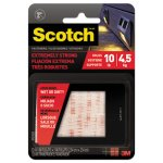 "Scotch Heavy Duty Fasteners, 1"" x 1"", Clear, 6/Pack (MMMRFD7020)"