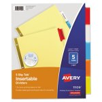 Avery Big Tab Dividers, Multicolor Tabs, Letter, Buff, 5 Dividers (AVE11109)