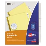 Avery WorkSaver Big Tab Reinforced Dividers w/Clear Tabs, 5 Dividers (AVE11110)