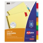 Avery Big Tab Reinforced Dividers, Multicolor Tabs, 8 Dividers (AVE11111)