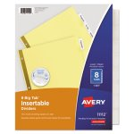 Avery Big Tab Insertable Dividers, Buff with Clear Tabs, 8 Tab Set (AVE11112)