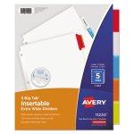 Avery Big Tab Extrawide Dividers w/Multicolor Tabs, 5 Tabs (AVE11220)