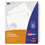 Avery Big Tab Extrawide Dividers, Clear Tabs, 8-Tab, 9 x 11, White (AVE11223)