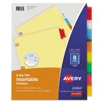 Avery WorkSaver Big Tab Dividers, 8 Multicolor Tabs, 8 Dividers (AVE23284)