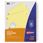 Avery Big Tab Dividers w/Copper Holes, Clear 8-Tab, Letter, Buff (AVE23285)