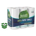 Seventh Generation Kitchen 2-Ply Paper Towel Rolls, White, 24 Rolls (SEV13731CT)