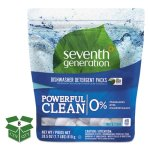 Seventh Generation Natural Dishwasher Detergent Packs, 8 Bags (SEV22897CT)