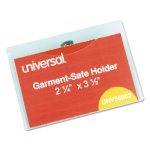 Universal Clear Badge Holders w/Inserts, White, 50 Badge Kit (UNV56003)