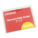 Universal Clear Badge Holders w/Inserts, Top Load, 3 x 4, 50 Holders (UNV56004)